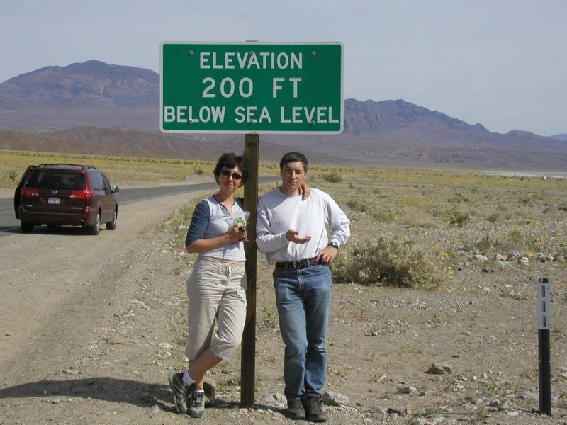 Below sea level, Death Valley